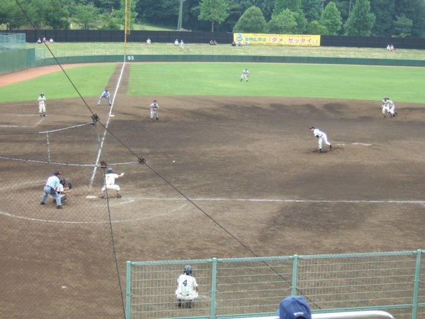 2009/07/18 下館一高 対 岩瀬高校