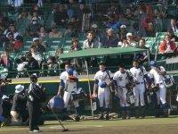 大会第 8日目 2回戦 3月29日 聖光学院高校 対 横浜高校 甲子園球場に挨拶、そして夏への誓い。